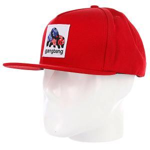 Бейсболка  Gangbang Red Enjoi. Цвет: красный