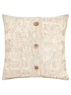 Вязаный чехол для подушки Банджамино Altali. Цвет: бежевый