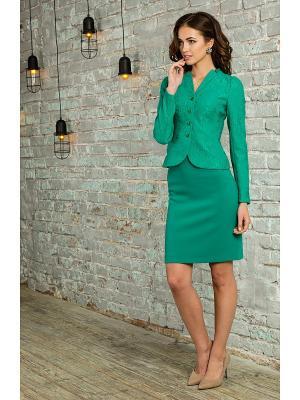 Жакет KEY FASHION. Цвет: зеленый