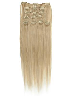 Накладные волосы, пряди на заколках-клипсах Lika VIP-PARIK. Цвет: светло-желтый, кремовый