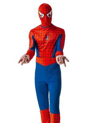 Костюм спайдермена, человека паука, супергероя La Mascarade. Цвет: красный, белый, синий