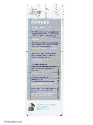 Дезодорант  для чувствительной кожи 48 часов(без отдушек), 30 мл. Korres. Цвет: прозрачный