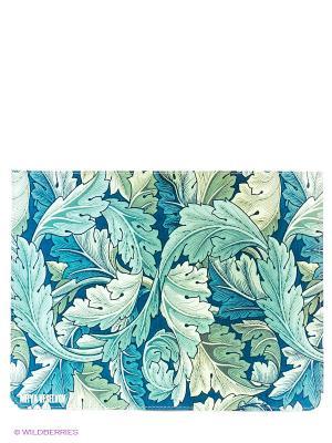 Чехол для IPad, Листья Mitya Veselkov. Цвет: белый, голубой, синий