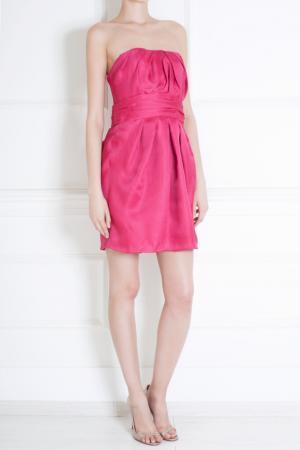 Шелковое платье Jay Ahr. Цвет: коралловый