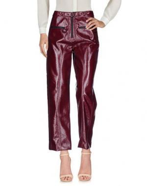 Повседневные брюки SELF-PORTRAIT. Цвет: красно-коричневый