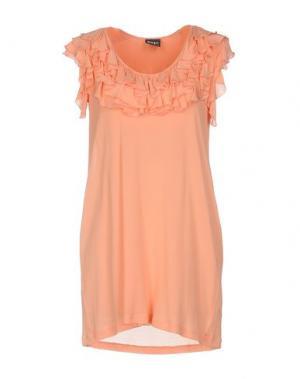 Короткое платье PF PAOLA FRANI. Цвет: лососево-розовый