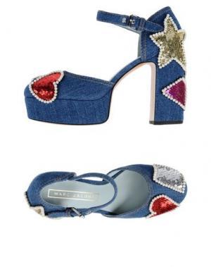 Туфли MARC JACOBS. Цвет: синий
