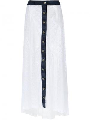 Long lace skirt Amir Slama. Цвет: белый