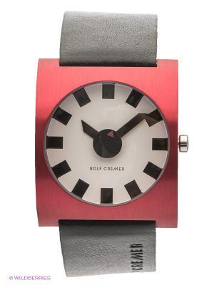 Часы Alu Rolf Cremer. Цвет: черный, бордовый