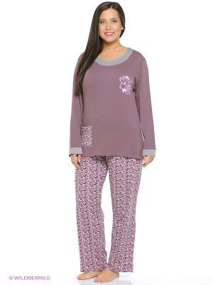 Пижама NICOLETTA. Цвет: коричневый