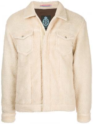 Пушистая куртка Guild Prime. Цвет: телесный