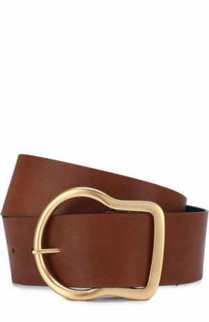 Кожаный ремень с металлической пряжкой Dorothee Schumacher. Цвет: коричневый