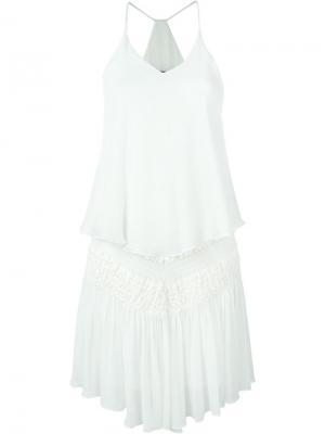 Многослойное платье мини Jay Ahr. Цвет: белый