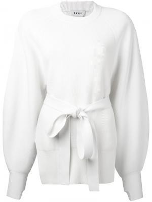 Джемпер с открытой спиной Donna Karan. Цвет: белый