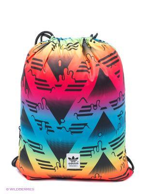 Сумка Gymsack Soccer Adidas. Цвет: желтый, белый, синий, розовый