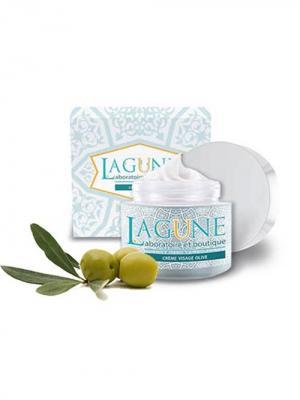Питательный оливковый крем для всех типов кожи. 150мл. LAGUNE. Цвет: кремовый