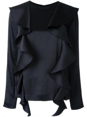 Блузка с оборками Goen.J. Цвет: чёрный