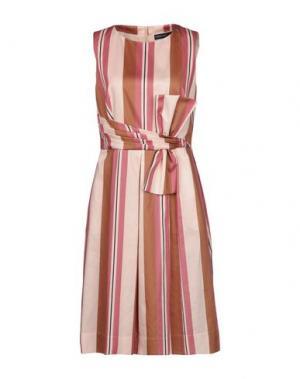 Платье до колена FABRIZIO LENZI. Цвет: коричневый