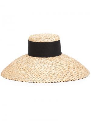 Соломенная шляпа Mirabel Eugenia Kim. Цвет: телесный