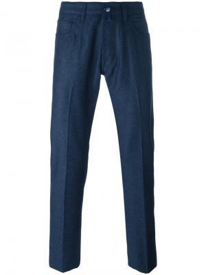 Зауженные брюки Jacob Cohen. Цвет: синий