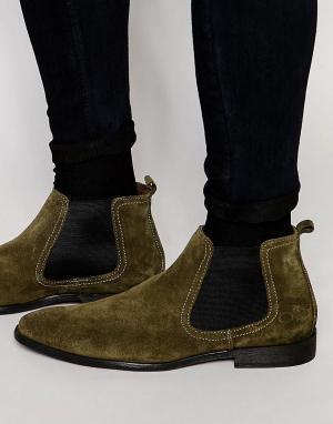 Base London Замшевые ботинки челси. Цвет: зеленый