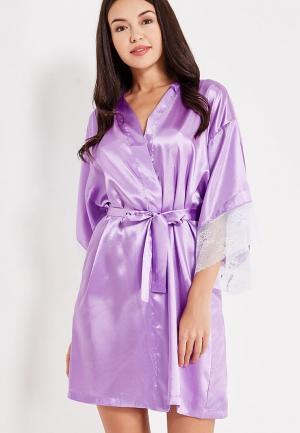 Халат Belweiss. Цвет: фиолетовый