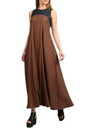 Платье Энсо. Цвет: коричневый