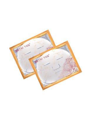 Маска для лица Фитоколлагеновая с лепесками Ромашки TaiYan, 60гр. 2 шт. TAI YAN. Цвет: прозрачный