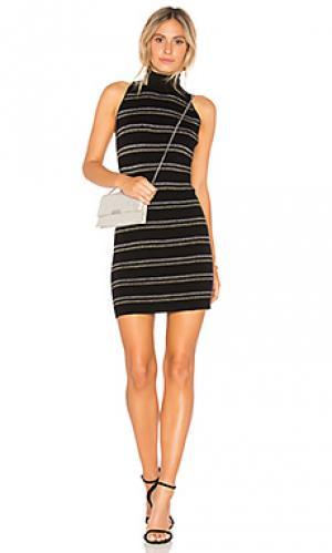 Платье свитер Chaser. Цвет: черный