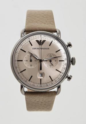 Часы Emporio Armani. Цвет: бежевый