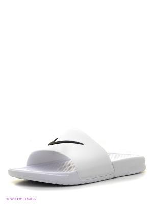 Шлепанцы BENASSI SHOWER SLIDE Nike. Цвет: белый