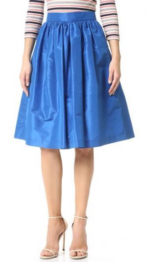 Шелковая юбка Midnight PARTYSKIRTS. Цвет: ночное небо
