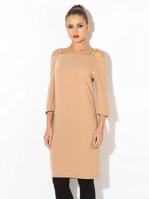 Платье TuttoBene. Цвет: светло-коричневый