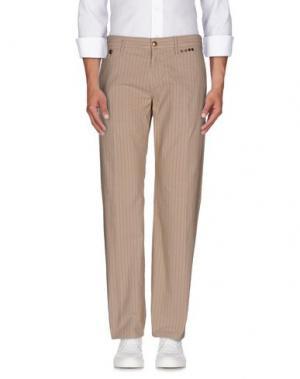 Повседневные брюки EXTE. Цвет: голубиный серый