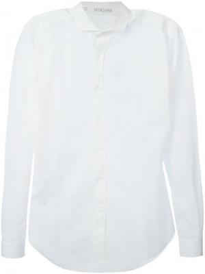 Рубашка с мелким принтом Vangher. Цвет: белый