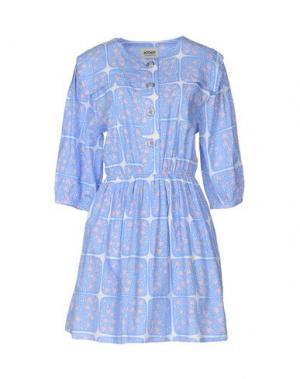 Короткое платье MOOMIN. Цвет: лазурный