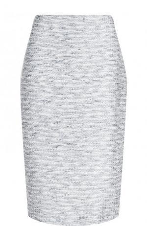 Буклированная юбка-миди с разрезом St. John. Цвет: серый