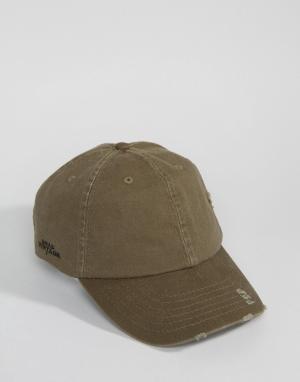 Dead Vintage Потертая кепка. Цвет: зеленый