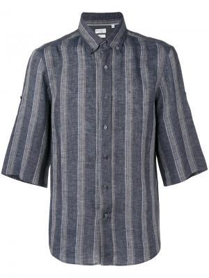 Полосатая рубашка с короткими рукавами Brunello Cucinelli. Цвет: серый