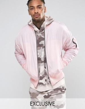 Other UK Бомбер в стиле oversize. Цвет: розовый