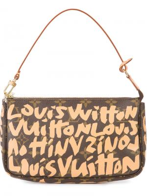 Сумка с принтом в виде логотипа Louis Vuitton Vintage. Цвет: коричневый