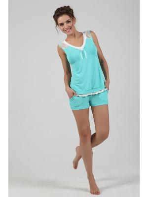 Пижама NicClub. Цвет: светло-зеленый