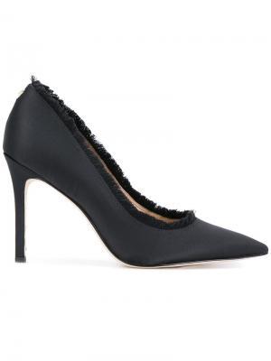 Туфли-лодочки с бахромой Sam Edelman. Цвет: чёрный