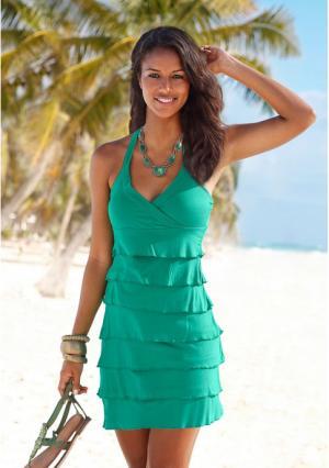 Пляжное платье BEACH TIME. Цвет: зеленый