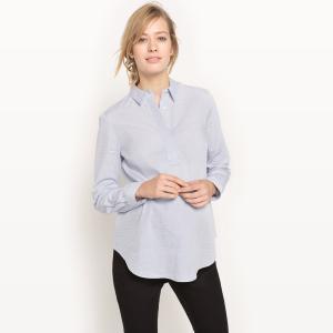 Рубашка из хлопка для периода беременности La Redoute Collections. Цвет: небесно-голубой