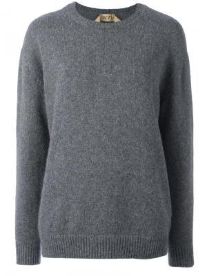Джемпер с круглым вырезом Nº21. Цвет: серый