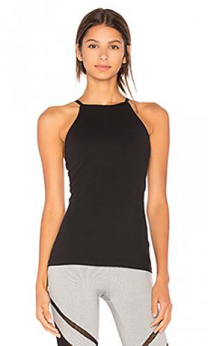 Майка с открытой спиной Beyond Yoga. Цвет: черный