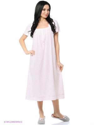 Ночная сорочка Aria. Цвет: розовый, белый