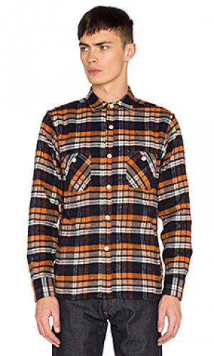 Рабочая рубашка shaggy 3sixteen. Цвет: оранжевый