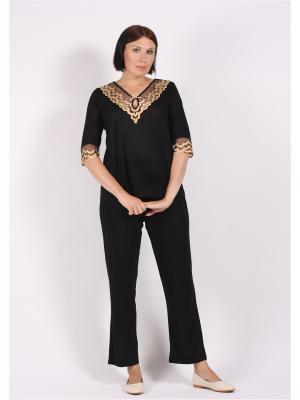 Пижама COTTONLAB. Цвет: черный